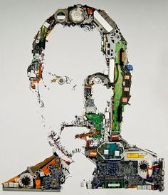 MacBook Pro Parts Used To Create Tribute Portrait Of Steve Jobs » Geeky Gadgets #steve #apple #macbook #jobs #pro #parts