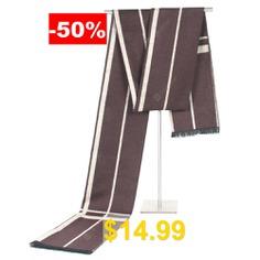 Men's #Winter #Classic #Striped #Scarf #Business #Casual #Warm #Neckerchief #- #BROWN