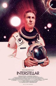 Poster by John Keaveney #inspiration #creative #movie #interstellar #print #design #space #unique #poster #film