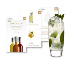 White Label Cocktails Website Design and Development, by Redpsa http://redspa.uk