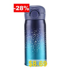 Stainless #Steel #304 #Vacuum #Heat-retaining #Cup #350ml #And #500ml #Star #Sky #Bouncing #Cover #Thermos #Mug