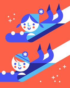 Eiight Hour Day – Illustration #illustration #children #human #face #snow #sports