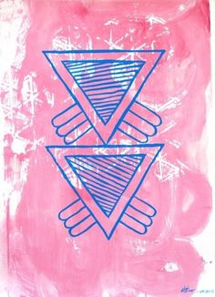 Dan+Bina%2C+Study+C%2C+1-8-2012+copy.jpg (JPEG Image, 521x720 pixels) #abstract #acrylic #pink #bina #dan #triangle #art #painting #triangles #blue