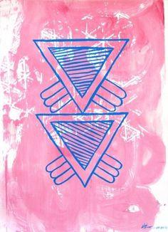 Dan+Bina%2C+Study+C%2C+1-8-2012+copy.jpg (JPEG Image, 521x720 pixels) #abstract #acrylic #pink #bina #dan #triangle #art #painting #triangles #blue