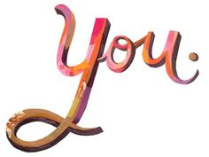 Dribbble - You by Darren Booth #typography