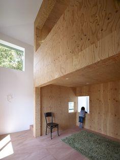 © Toshiyuki Yano #plywood #architecture #japan