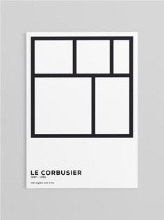 Editorial, Book cover, typography, le corbusier, gif