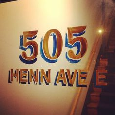 505 Henn Ave E. Obviously some awesome sign painting happened here awhile ago. #lettering #typehunting #signhunting #painted #hand #typography