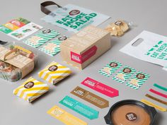 Sandwich or Salad on Behance #package #colors #branding