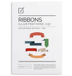 Celebration Ribbons Vector Illustration Set $8.00 This pretty vector ribbon set will come in handy especially when you're designing Christ