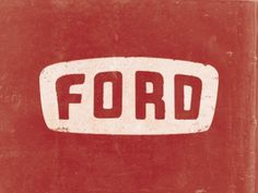 Ford by Trent Walton #inspiration #creative #lettered #personalized #design #illustration #logo #hand