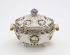 Vegetable bowl, Nymphenburg, after the model by Dominikus Auliczek #porcelain