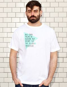 IMAGINATION - white t-shirt - men | NATRI - Shirt Label