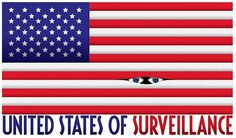 Illustration #vigilance #flag #eyes #illustration #surveillance