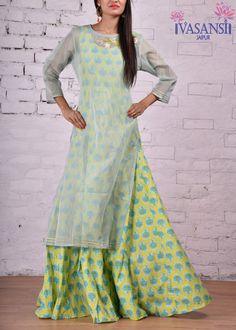 Vasansi Green Cotton Indo Western
