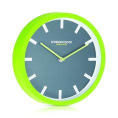 London Clock Company 'POP' Wall Clock Lime, 25cm x 4cm