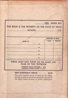 old school textbook