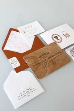 wood invite #wedding #invitation