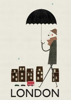 Illustrated cities : Cosas mínimas #blanca #group #london #gmez #the #illustration #poster #art