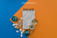 Beach items with notepad Free Psd. See more inspiration related to Mockup, Travel, Summer, Paper, Beach, Bottle, Mock up, Drawing, Compass, Adventure, Decorative, Tourism, Vacation, Trip, Holidays, Notepad, Journey, Up, Traveling, Items, Shells, Composition, Mock, Summertime and Touristic on Freepik.
