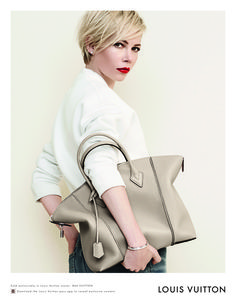 Michelle Williams, photographed by Peter Lindbergh for Louis Vuitton Handbag Campaign, Spring 2014. #lindbergh #peter #photography #louis #fashion #vuitton