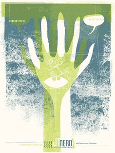 GigPosters.com - Sean Hayes - Jt Nero #gig #screenprint #poster