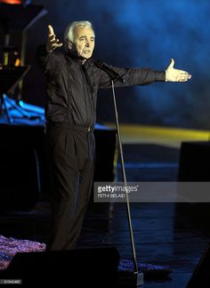 French singer Charles Aznavour performs during the 45th International Carthage festival, on July 21, 2009 at the Romain theatre in Carthage,