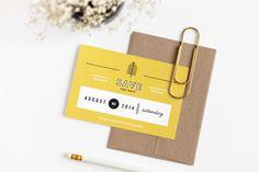 Michael & Breanna Wedding | Design by Rowan Made #card #wedding #invitation