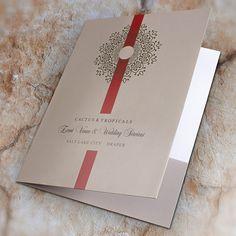 Cactus & Tropicals Event Venue & Wedding Services Folder #doily #presentation #folder #ribbon