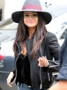 Famous Singer Selena Gomez Wore This Amazing Black Leather Jacket at ITV Studios, which attracted Her Fans a lot, so Topcelebsjackets brings This Leather Jacket For all Fans. #selenagomez #blackleatherjacket #leatherjacket #blackjacket #itvstudios #fansjacket #singerjacket #sale #valentinegiftideas