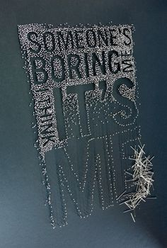 new illustration work 2011 on the Behance Network #pin #craft #type #push #typography