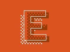 big E - Dot tip logo design