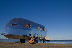 "Proclaimed to be the ""world's first luxury trailer,"" the Bowlus Road Chief is a high-tech reincarnation of William Hawley Bowlus' ic #form #camper #hawley #design #camping #trailer #bowlus"