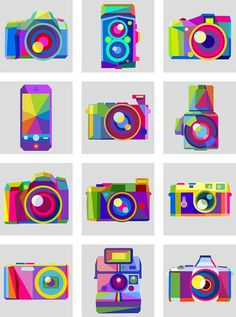 Avatars for The New Flickr on Behance #charis #icon #avatars #flickr #retro #cameras #design #tsevis #art #web