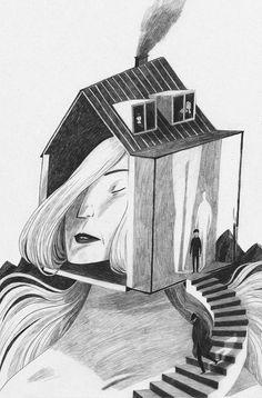 Illustration by Anja Sušanj for Alessandro Baricco's book.