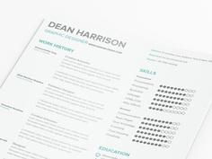 Free Minimal Typographic Resume Template