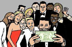 #hollywood #illustration #oscar #celebrities #selfie #jeanjullien