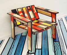 It's Nice That : Patterned dreams come true with Richard Woods' iconic wood-grain motif #chair #furniture #design