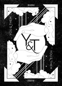 You &Them Tarot Card #design #identity #black #blackwhite #tarot