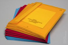 Semi Transparent Envelopes #block #colour #stationery