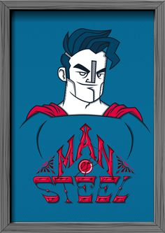 Oh, my hero! Superheroes Tribute on Behance #hero #illustration #lettering #superhero