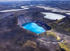 Aerial Photographs of Volcanic Iceland by Andre Ermolaev #aerial #photo #nature #volcano #blue
