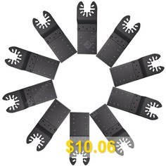 Multifunctional #Saw #Blade #Electric #Tool #Accessory #10pcs #- #BLACK