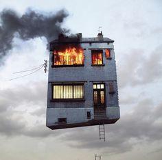 """Flying Houses - Fubiz â""""¢ #flying #surreal #photography #house"""