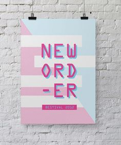 New Order Bestival Poster design by Chris Hannah #chris #bestival #hannah #gig #design #stevie #wonder #posters #poster #music
