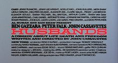 Husbands - Cassavetes Falk Gazzara #screen #title #typography