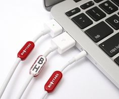 Buoy Tags – Labels for Apple Cables #tags #cables #gadget