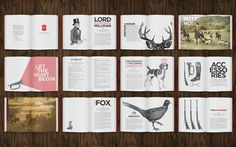 Hunt & Heritage Brochure - by Cecilia Hedin #print #book #animal #brochure #editorial #hunt