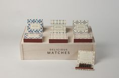 Delicious Matches by Nicolo Arena #match #pattern #packaging #box #matches