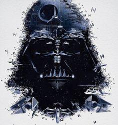tumblr_m0tpl1vB3a1qzt7h7o4_1280.jpg (946×1000) #montage #wars #black #illustration #vader #star #darth